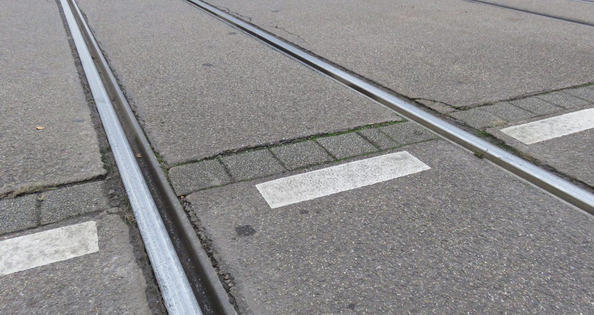 Strassenbahnschienen Freiburg (Symbolbild)