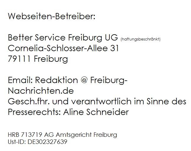 Freiburg Nachrichten Impressum