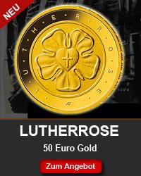 Goldmünze Lutherrose