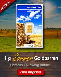 Goldbarren kaufen 1 Gramm Heraeus