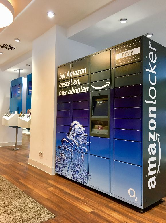 Amazon Locker Box in einem O2-Store