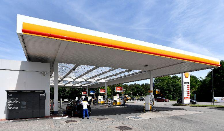 Amazon Locker an einer Shell-Station bei München