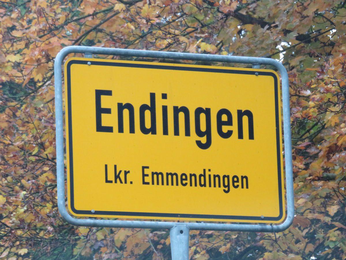 Ortsschild Endingen bei Freiburg