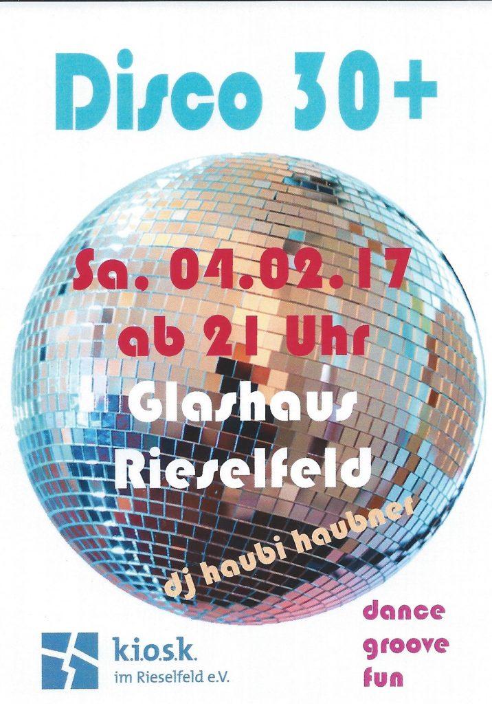 Veranstaltungshinweis: Ü30-Party in Freiburg 4.2.2017