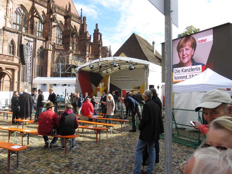 Freiburg Münsterplatz CDU Merkel 18.9.2017