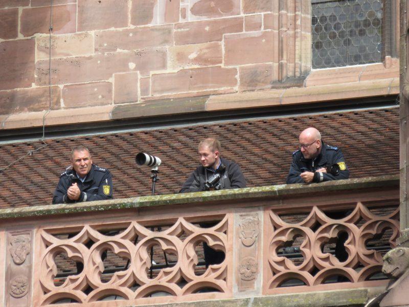 Münsterdach Polizei Freiburg