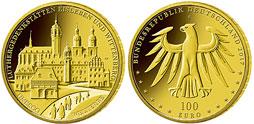 100 Euro Goldmünze Luther 2017 Eisleben Wittenberg Luthergedenkstätten