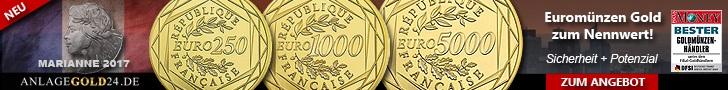 Goldmuenze kaufen Marianne Frankreich