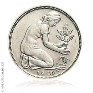 Münze 50 Pfennig 1950