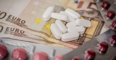 Tabletten-geldschein-Verandapotheke