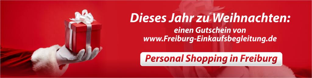 Weihnachten Gutschein Personal Shopping Freiburg