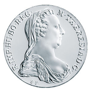 Maria Theresien Taler in Silber