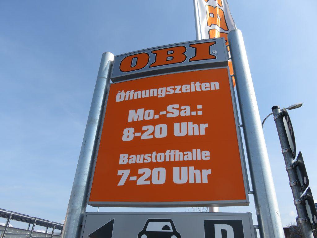 Öffnungszeiten OBI Haid Freiburg