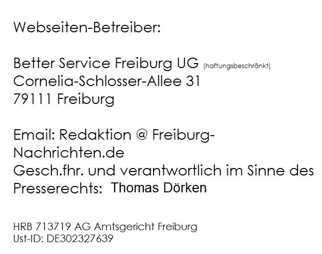Impressum Freiburg Nachrichten News