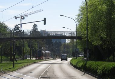 Laserpointer Brücke Lindenwäldle blenden