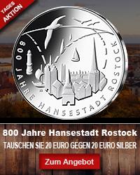 20 Euro Münze Tausch Rostock Deutschland