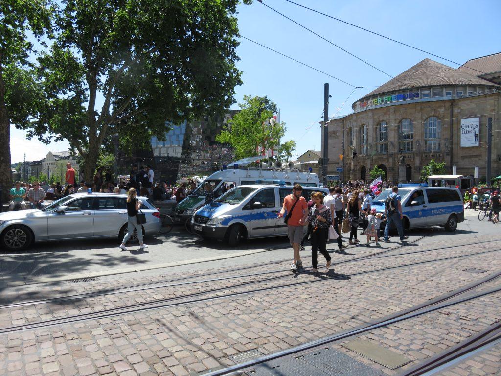 Die Polizei war präsent, aber zu größeren Einsätzen kam es nicht