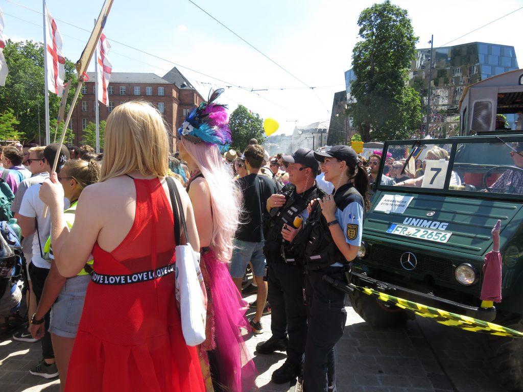 Die Polizei hat den CSD 2018 in Freiburg professionell begleitet