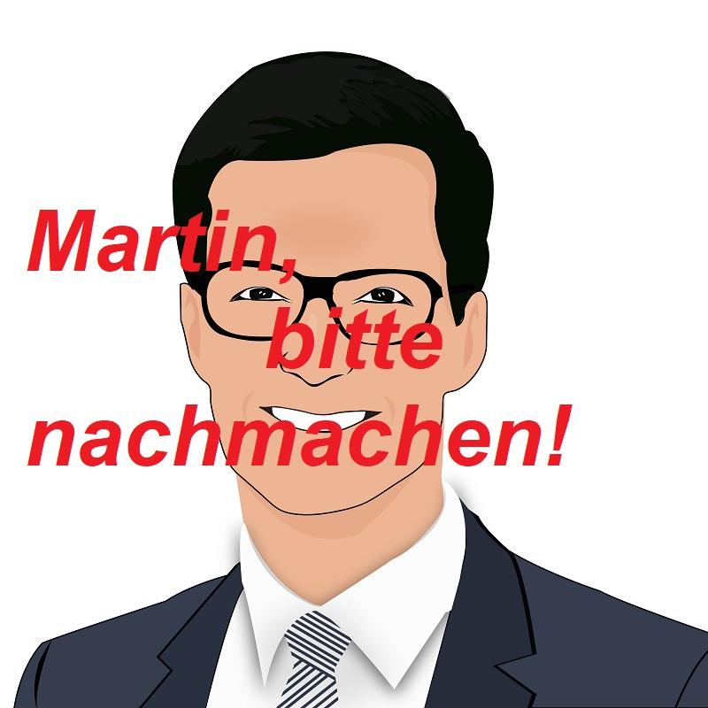 martin-nachmachen-cartoon-horn