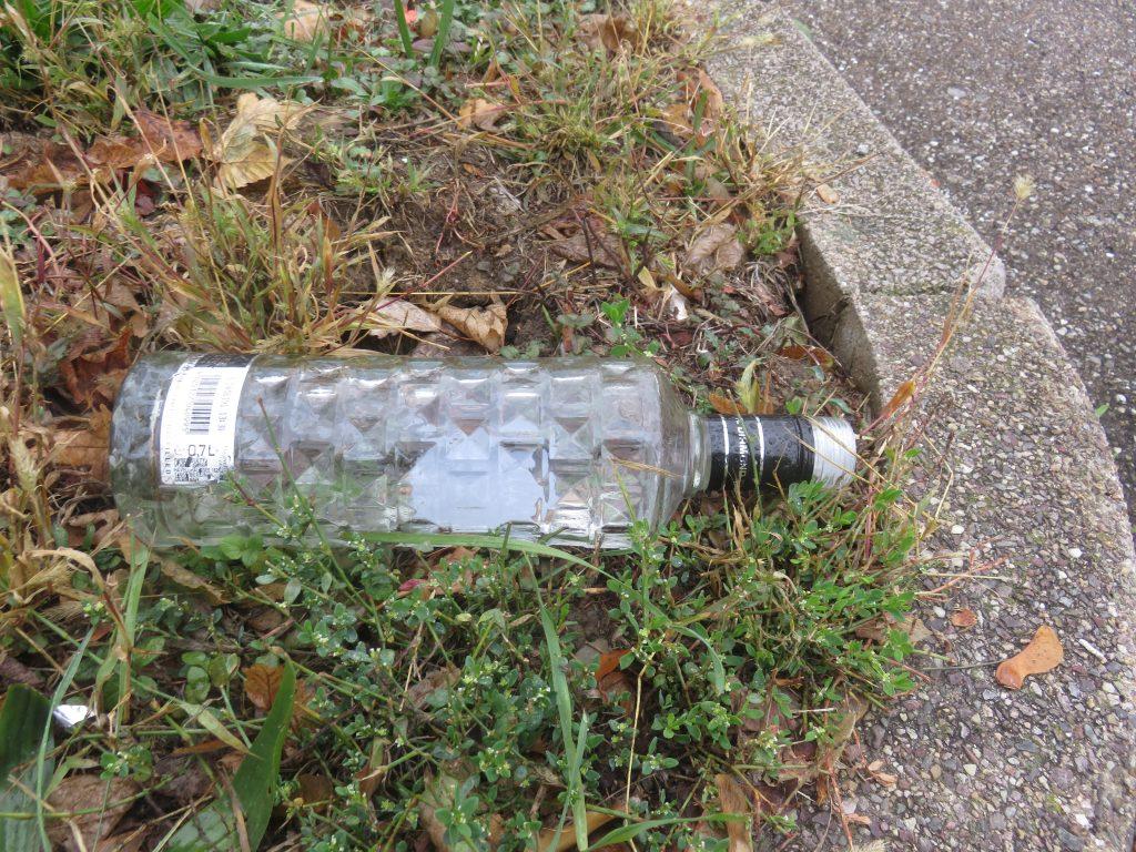 Alkohol Flaschen Hand Bunte Areal