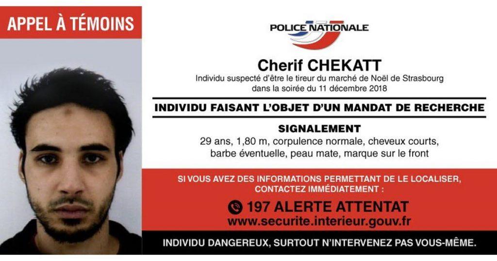 Fahndung Cherif Chekatt Straßburg Attentat