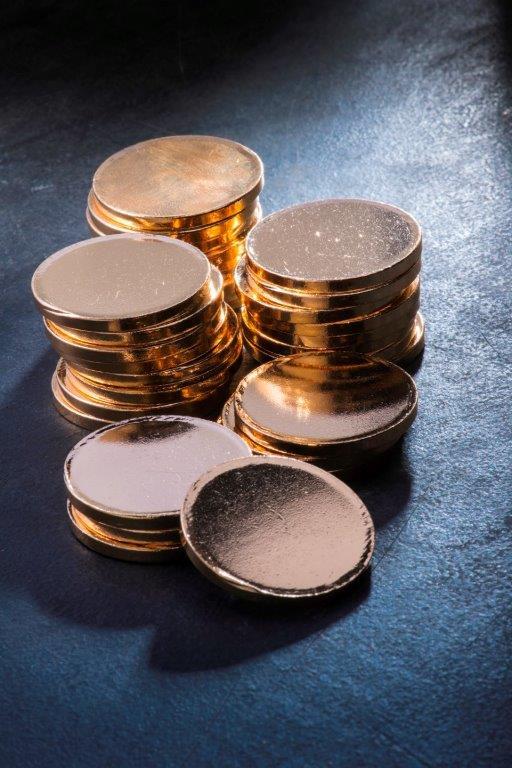 Goldronden für die Goldmünze Krügerrand