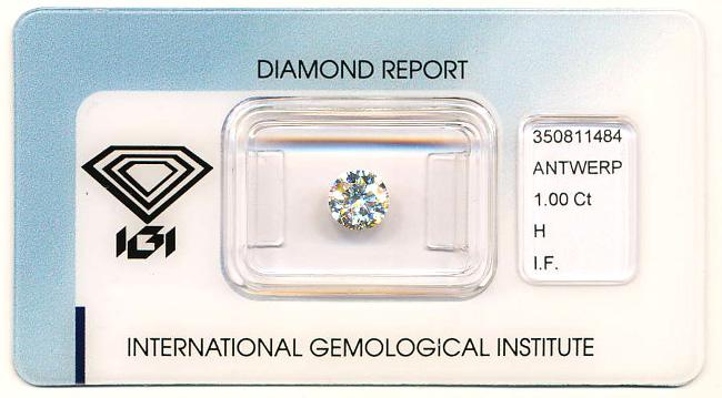 Einkaräter Diamant