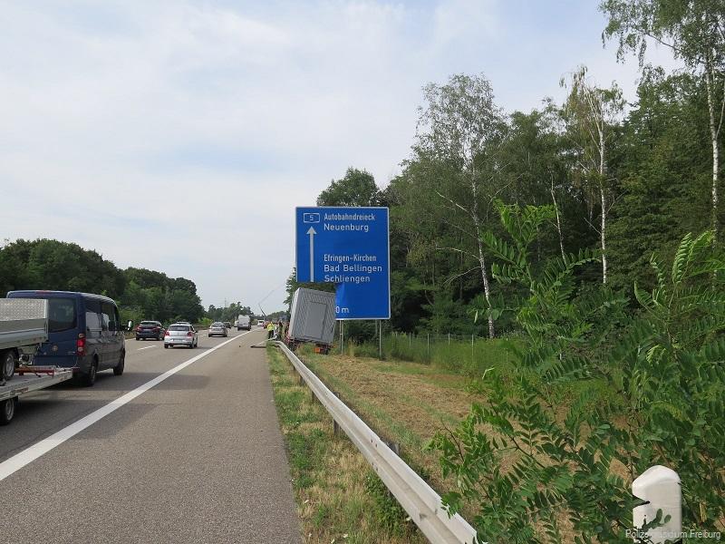 Unfall A5 Autobahn Efringen Kirchen