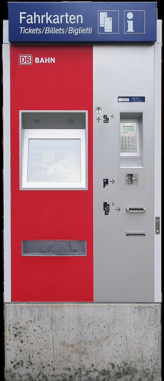 Fahrkartenautomat aufbrechen