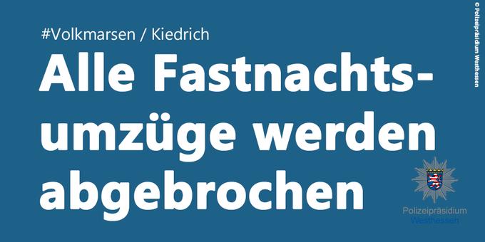 Abbruch Fastnachtsumzüge Hessen