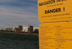 Fessenheim-Atomkraftwerk-Warnschild