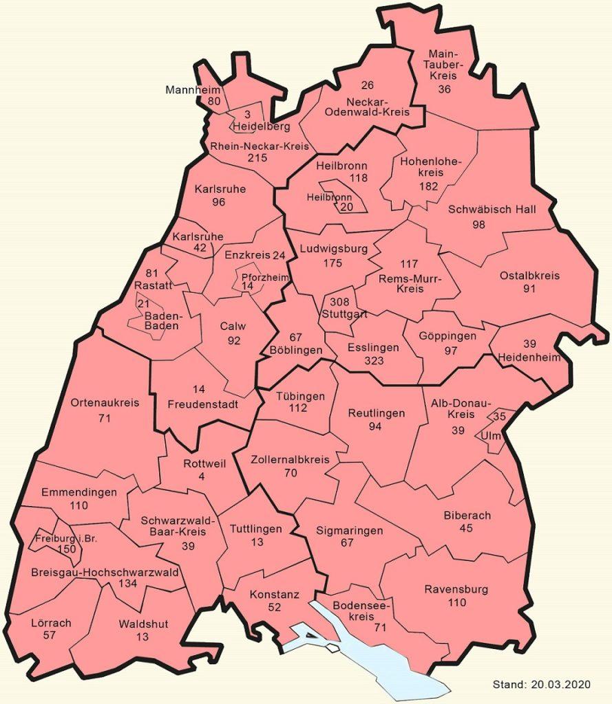 Baden Württemberg Fallzahlen