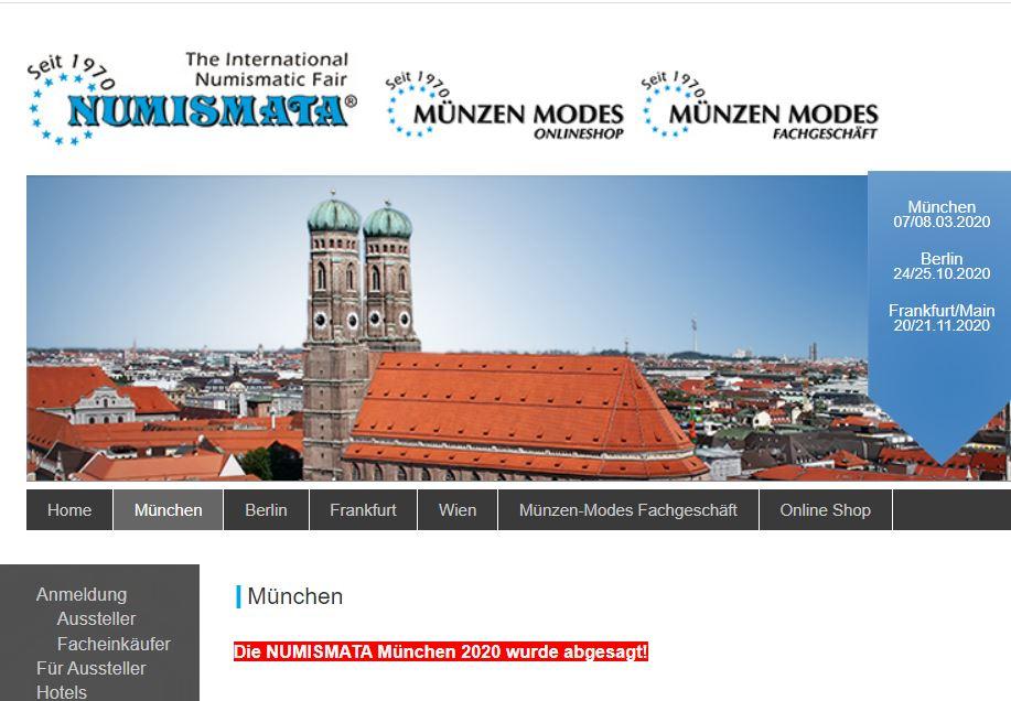 Numismata München 2020