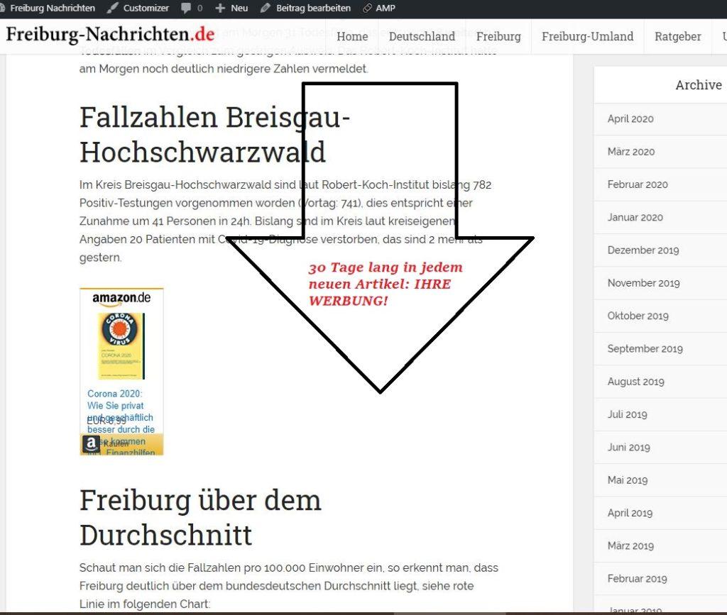 Banner auf Freiburg-Nachrichten.de