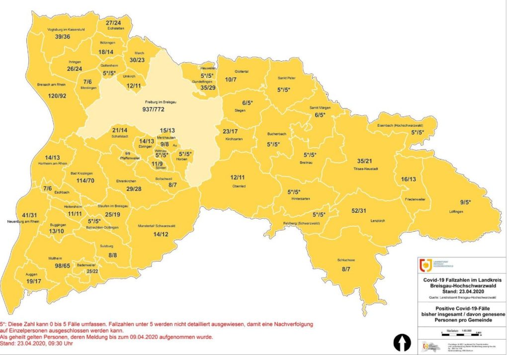 Landkreis Breisgau-Hochschwarzwald Fallzahlen Coronavirus