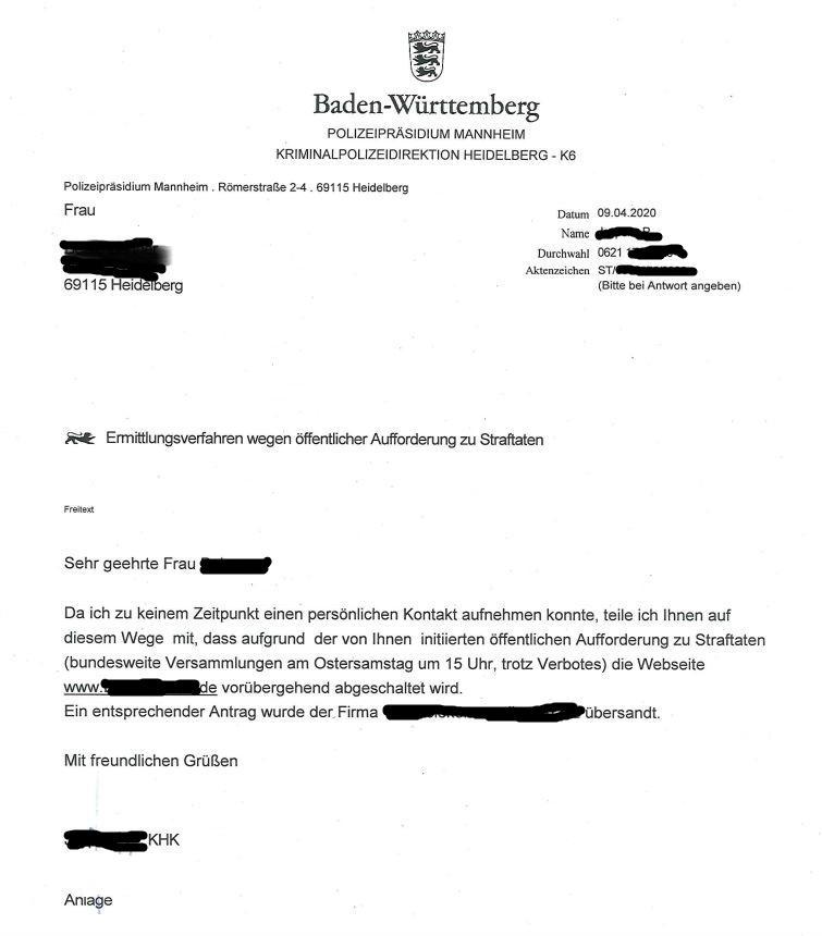 Polizei Heidelberg Rechtsanwältin Homepage