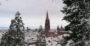 Freiburg Münster Schnee
