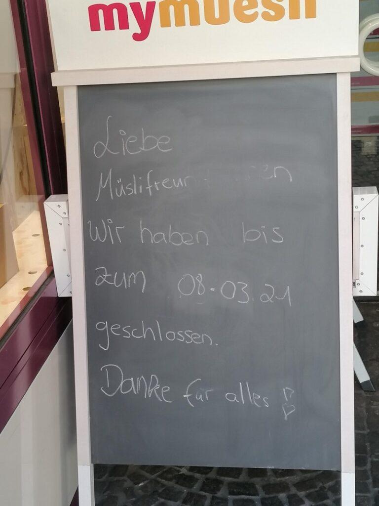 my muesli verlässt Freiburg