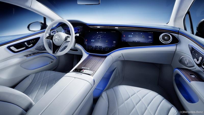 Beeindruckender Hyperscreen im neuen Mercedes EQS